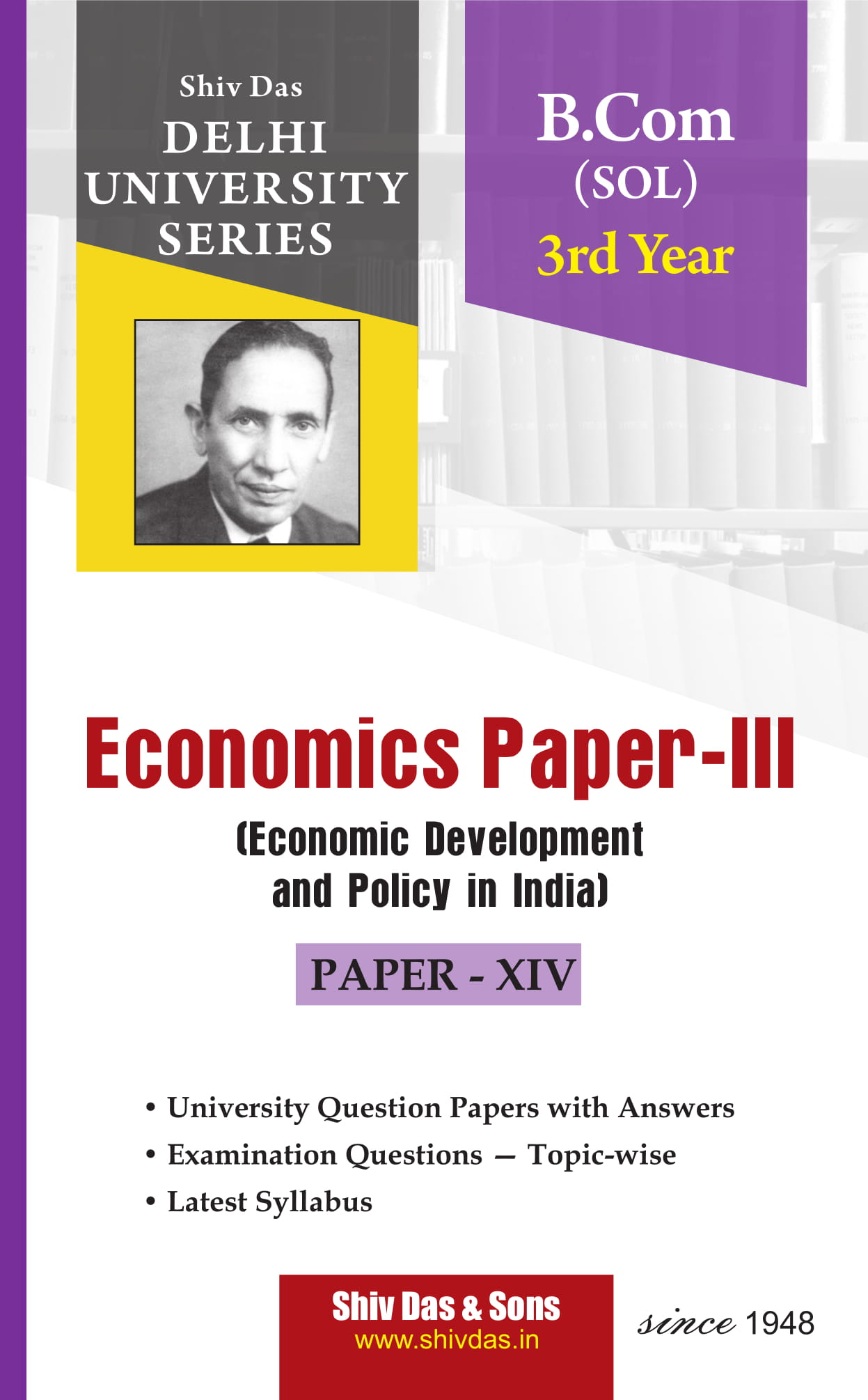 Economics Paper- III (Eng. Med) for B.Com 3rd Year SOL/External