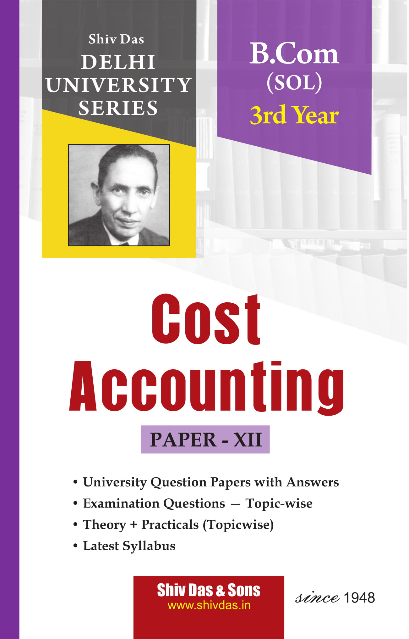Cost Accounting (Eng. Medium) for B.Com 3rd Year SOL/External