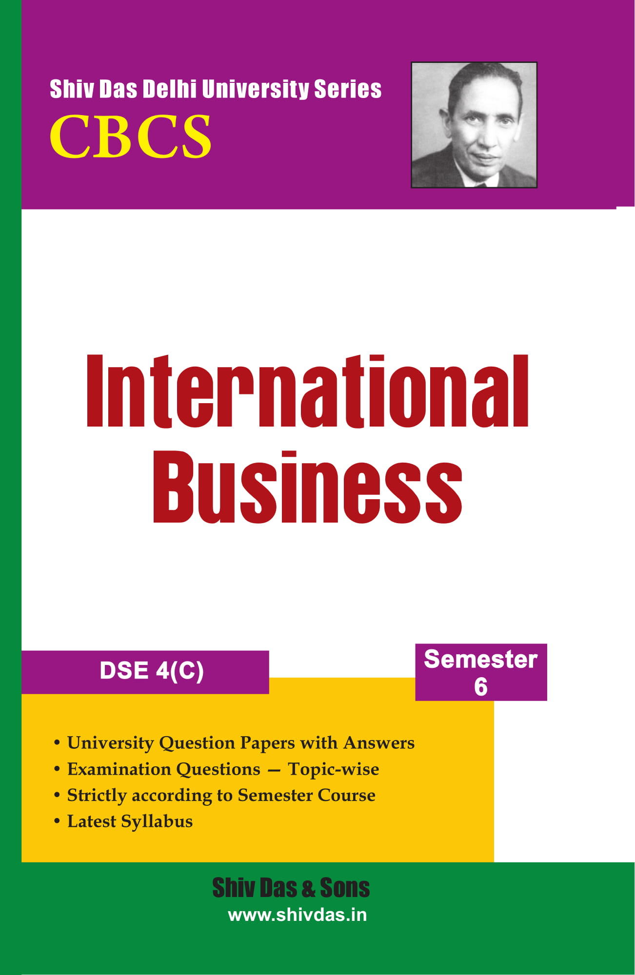 International Business for B.Com Hons  Semester 6