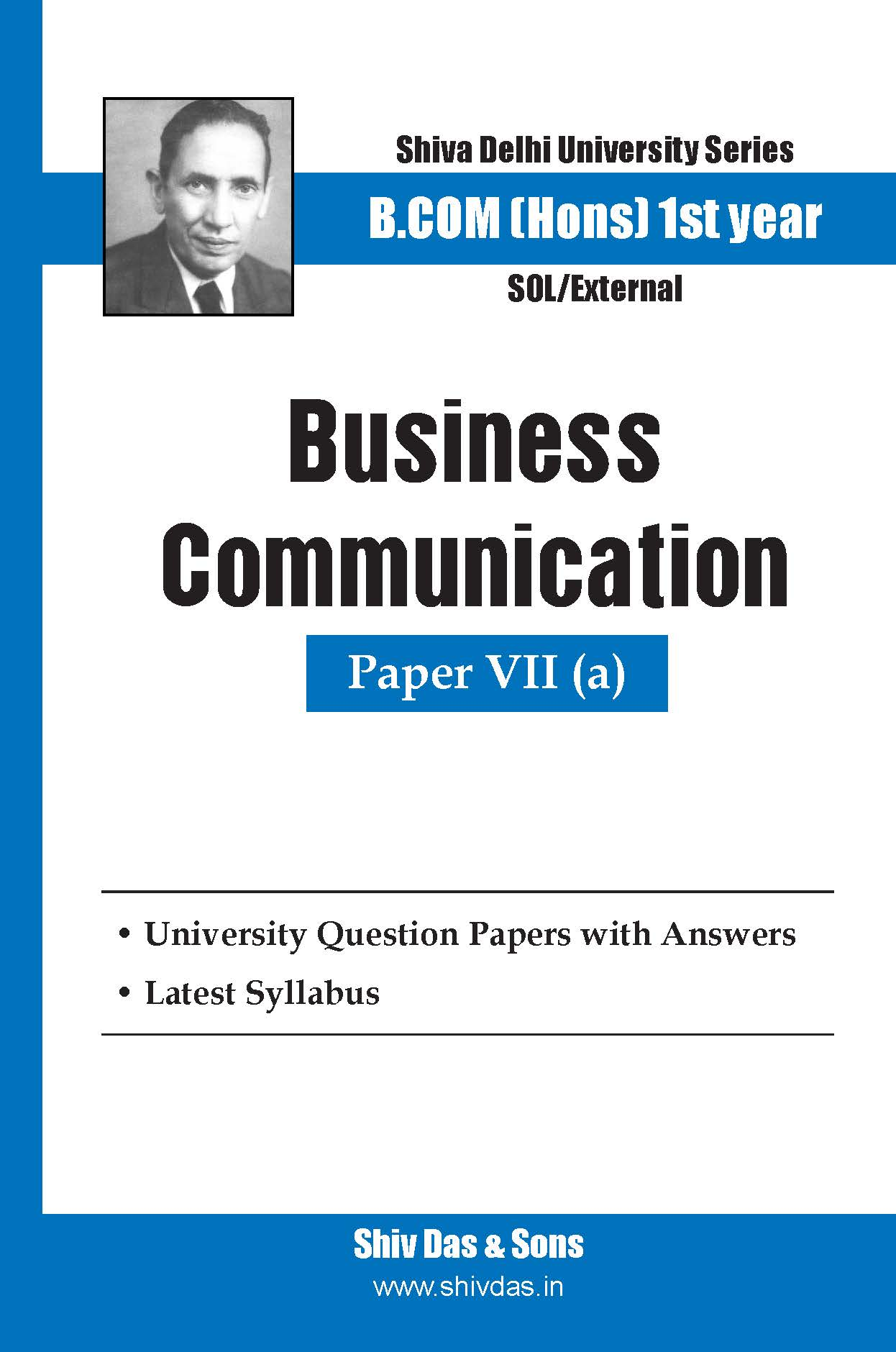 B.Com Hons-SOL/External-1st Year-Business Communication-Shiv Das-Delhi University Series