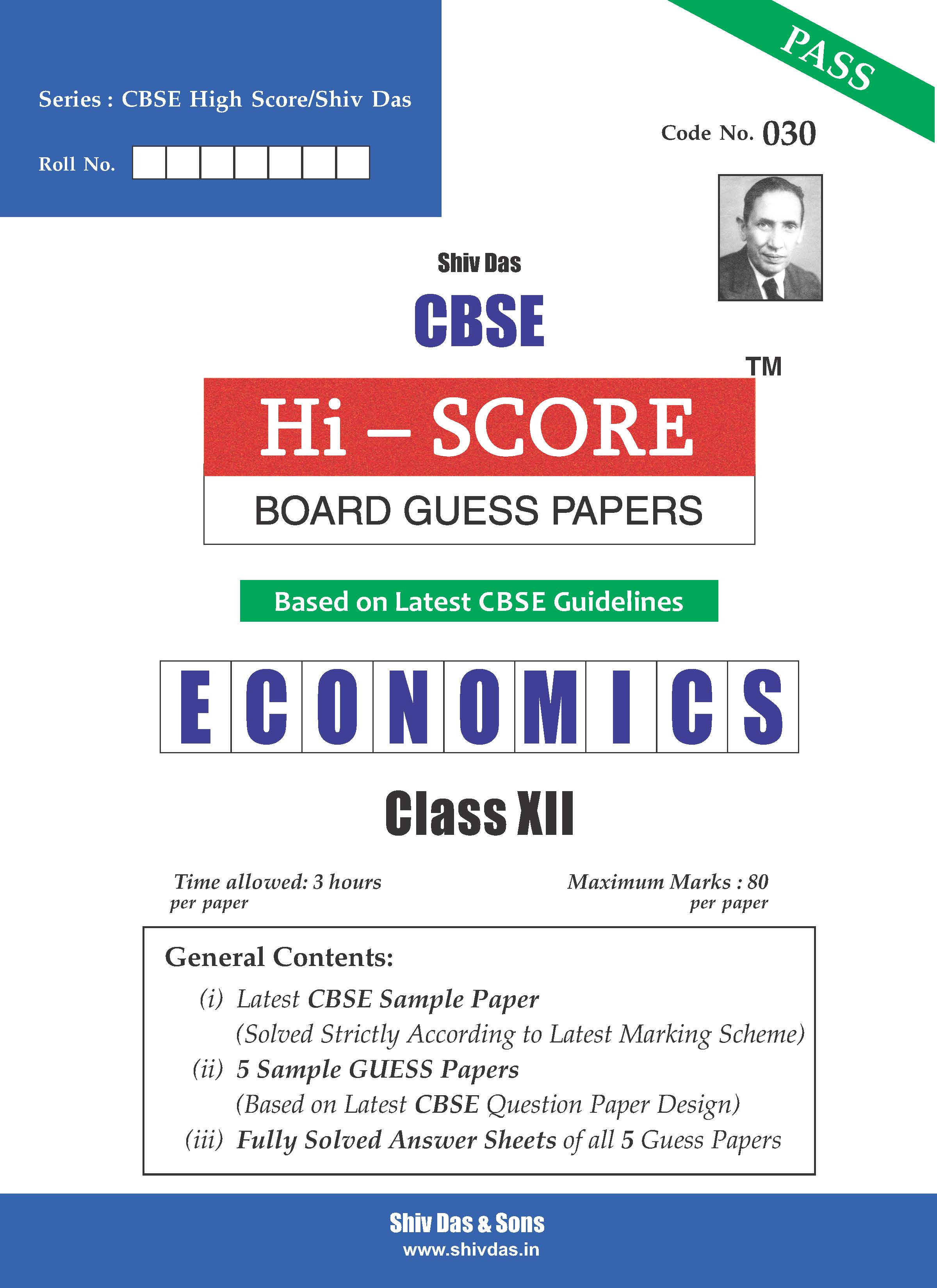CBSE Hi Score Board Guess Papers for Class 12 Economics