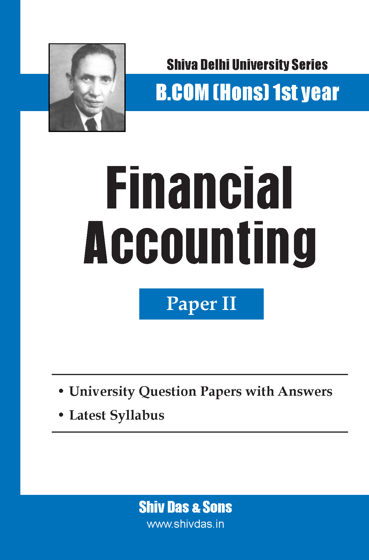 Financial Accounting for B.Com Hons SOL/External 1st Year