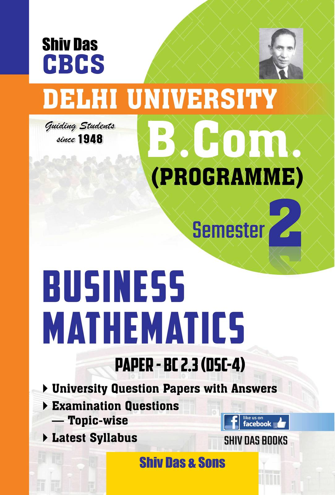 Business Mathematics for B.Com Prog Semester-2 for Delhi University by Shiv Das